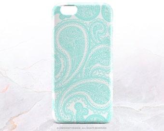 iPhone 7 Case Mint Paisley Floral iPhone 7 Plus iPhone 6s Case iPhone SE Case iPhone 6 Case iPhone 5S Case Galaxy S7 Case Galaxy S6 Case V32