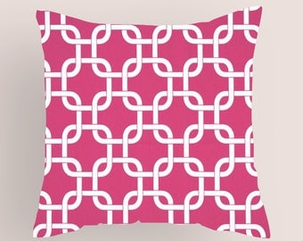 Pillow Covers. One Hot Pink Pillow Cover .  18 X 18  Accent Pillows  Throw Pillows  Decorative Throw Pillows
