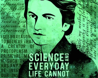 Rosalind Franklin Science Quotes Poster