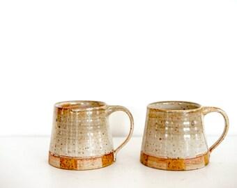 Mid Mod Checkered Rust/Orange Mug