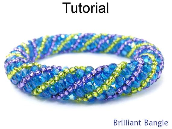 beading tutorial pattern bangle bracelet russian spiral