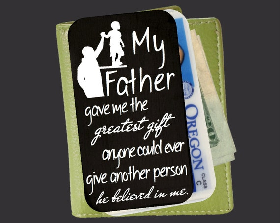 Personalized Wallet Card | Custom Wallet Insert | Engraved Wallet Card | Gift Ideas for Men | Fathers Day Gifts | Korena Loves