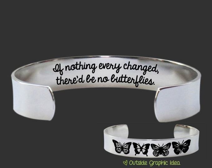 Butterfly Jewelry | Encouragement Gift | Friend Gift | Teen Gift | Daughter Gift | If Nothing Ever Changed | Bracelet Korena Loves