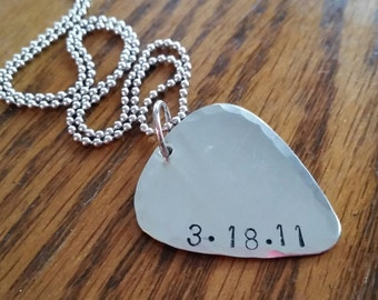 sobriety necklace addiction recovery gift sobriety date jewelry for men guitar pick necklace anniversary gift sobriety milestone jewelry