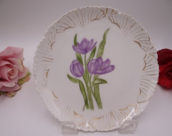 c1876 - 1890 Antique Vintage John Pouyat Limoges France Small Lilac Flower Plate