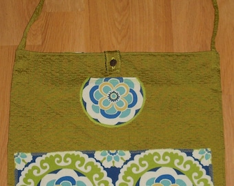 Handbag - Green with Mandalas