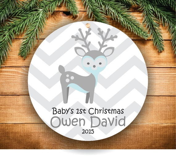 Baby Boy Gifts For Christmas : Items similar to babys first christmas ornament