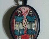 Redrum Skeleton Twins Pendant