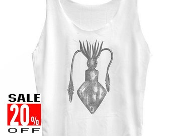 Squid tank top animal tank top women tops unisex singlet size S M L