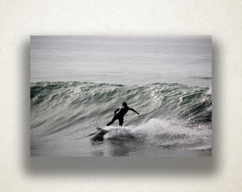Pacific Ocean Surfer Canvas Art, Surfing Wall Art, Ocean Canvas Print, Photograph, Canvas Print, Home Art, Wall Art Canvas