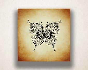 Butterfly Drawing Canvas Art Print, Butterfly Wall Art, Insect Canvas Print, Artistic Wall Art, Canvas Art, Canvas Print, Home Art, Wall Art