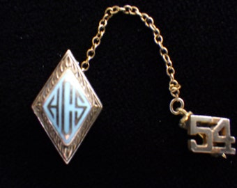 Vintage Sorority Pin 1954 Signed