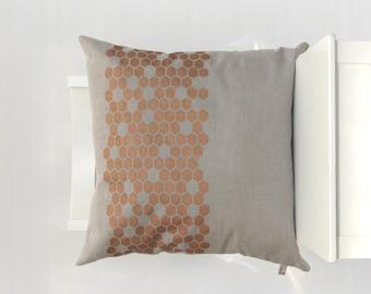 Linen Throw Pillow Cover 20x20 / Housewarming Gift / Wedding Gift