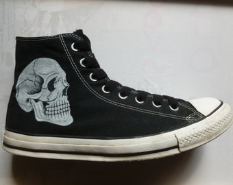 Skull Shoes Etsy