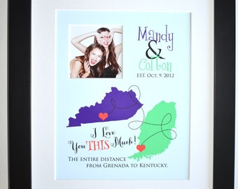 Gift for best friend, custom gift, family, long distance, friends, military, cousin birthday gift idea, personalized, mom, sister, daughter