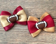 Unique 49ers hair bow related items | Etsy