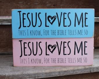 """Blessing block - """"Jesus Loves Me"""""""
