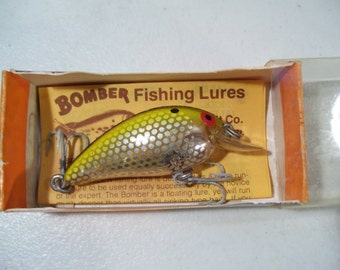 Vintage Bomber Model A Fishing Lure with Original Box, 1970'S, Unfished