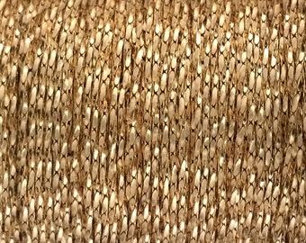 Gold Filled chain, wholesale Beading chain 0.8mm Tiny and Strong 3 5 10 20 30 Feet - gold beading chain sold by foot by meter 20%discount
