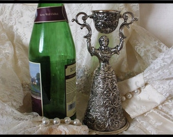 WEDDING CUP SILVER  Goblet - Ceremony toast to remember.