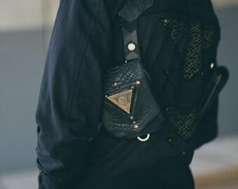 Eye of horus holster - Pyramid holster - Mens holster - Leather holster - Holster bag