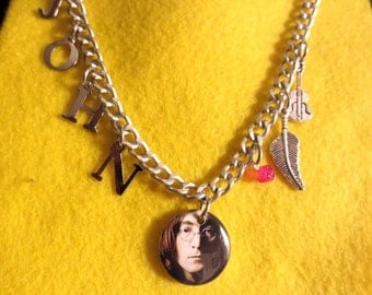 Beatle John Lennon charm necklace