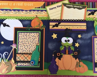 "Halloween 2  12x12"" scrapbook pages handmade"