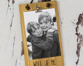Oak Photo Frame Personalised - Picture Frame For Boyfriend - Boyfriend Gift - Sentimental Gift - Personalised Frame - Photo Frame