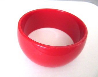 Extra Wide Lucite Bangle True Red