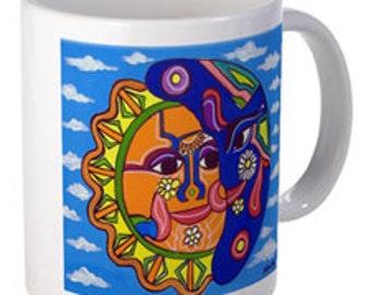 Coffee Mug -Sun & Moon - By Artist A.V.Apostle