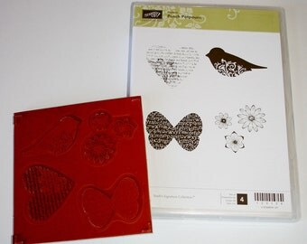 Punch Potpourri Rubber Stamp Set Retired from Stampin Up
