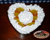 Perfect Peach Cheesecake - Heart Cheesecake Bowl Candle