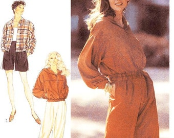 Style Separates Pattern 2209 - Misses' Zip Front Jackets and Pants or Shorts - Sz 6 thru 16