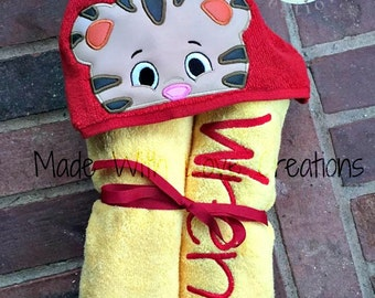 Tiger Inspired Hooded Towels-Character Hooded Towels-Birthday Gifts-Kids Hooded Towels-Custom Towels-Tiger Hooded Towel