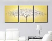 Custom 54x24x1 Mustard Yellow Single Tree