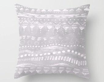 Grey Abstract Throw Pillow Cover, grey pillow cover, gray pillow cover, grey throw pillow, gray throw pillow, grey white pillow