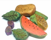 Late Summer Vegetable Garden // Waldorf Inspired Wooden Toy Produce for the Natural Play Kitchen // Wooden Play Food // Natural Toy Produce