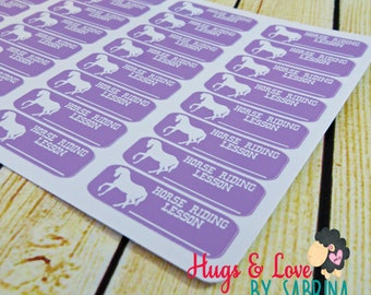 Horse Riding Lesson Planner Sticker - Size Customize-able