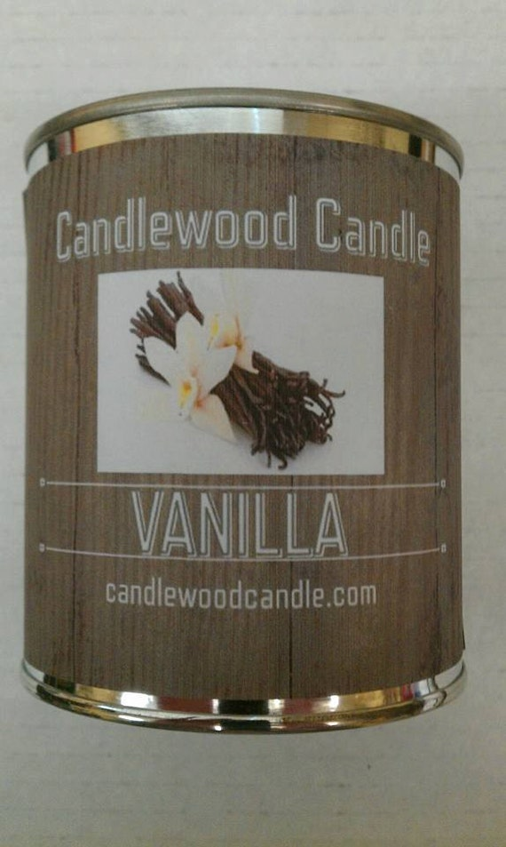 VANILLA - Authentic Vanilla Wood Wick Candle 16 oz. Free Shipping in the USA
