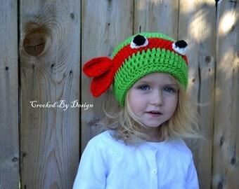 Hand Crocheted Ninja Turtle Hats