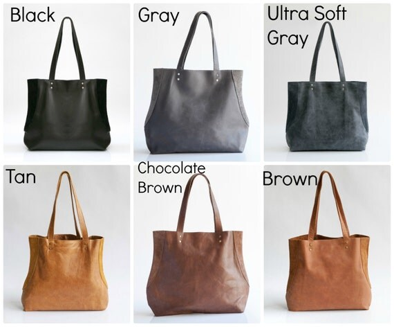 Brown Leather Tote Leather Shoulder Bag Tote Bag Brown