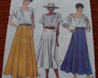 McCall's 80s Skirt Pattern size 10