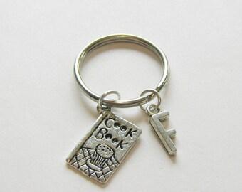 1 Best Friend Initial Keychains, Bakers Keychain, Baking Best Friends, Baking BFF , Best Friends Keychain, Initial Keychain
