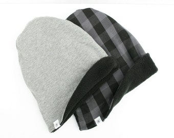 ADD ON - Fleece lining for Slouch Beanie Hat