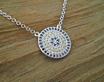 Evil eye necklace, evil eye jewelry, evil eye silver,dainty necklace, simple,elegant, everyday.
