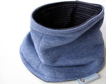 Neck Warmer, organic neck warmer, velcro neck warmer, organic cotton scarf, reversible scarf, reversible neck warmer, cache-cou, 25% off