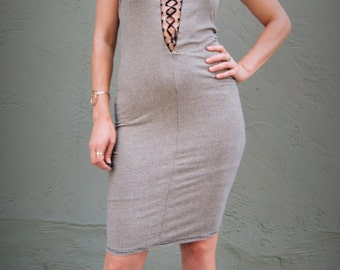 stripe dress / Gothic / hip hop / club dress / 90s dress / body con dress / cotton dress