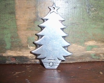 Wilton Columbia Pewter Ornament Christmas Tree Holiday Vintage