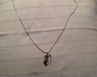 "Vintage Sterling Silver 22"" Chain Necklace with Pendant"