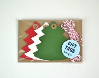 Christmas Tree tags set of 10